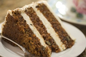 Decadent Slice of Carrot Cake