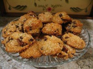 Tina's Almond Flour Chocolate Chip and Nut Cookies