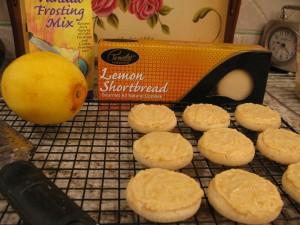Gluten-Free Orange-Iced Lemon-Shortbread Cookies