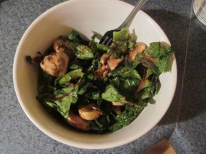 Swiss Chard and Mushrooms With Cajun's Choice Blackened Seasoning-Gluten-Free, Grain-Free